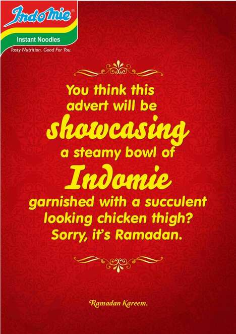 Teasing Ramadan Posters - Indomie Tempts People Who Are Observing the Ramadan Fast