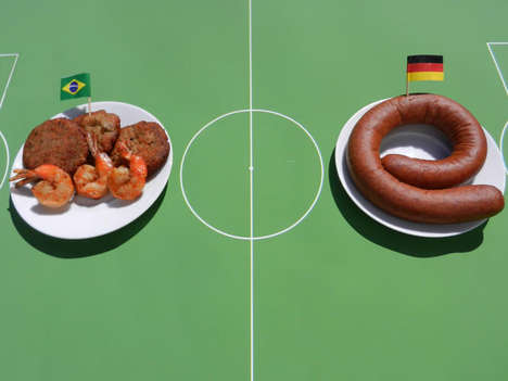 Culinary Cup Combination Captures - World Cup Cuisine Mixes National Dishes From FIFA Teams