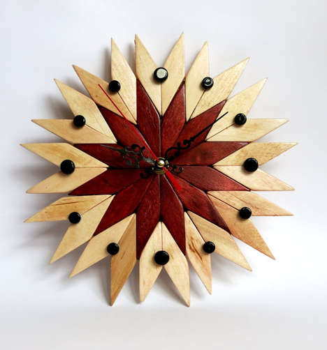 Decorative Woodwork Timekeepers - Etsy's Wooden Wood Shop Creates Intricately Crafted Clock Designs