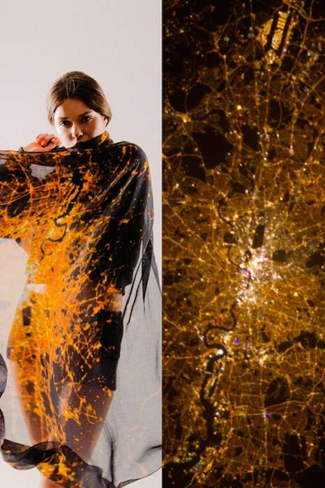 Light Pollution Fashion - The Cities by Night Collection by Slow Factory Uses NASA Images