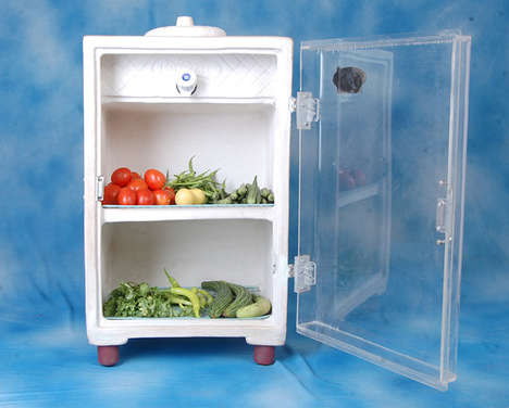 Non-Electric Food Storage - The Mitti Cool Clay Fridge Prevents Food Waste in Developing Countries