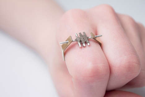 Morphing Dust Jewelry - This Unusual Jewelry Collection Uses Dust in Place of Precious Stones