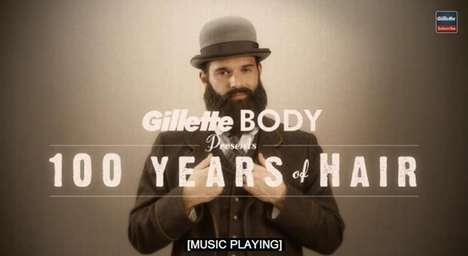 Evolving Facial Hair Ads - The Gillette BODY Razor Commercial is Fun and Takes on Different Eras