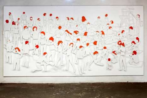 Steel-Made Paintings - Oh The Humanity! by Frank Plant Depicts Redheads at the Beach