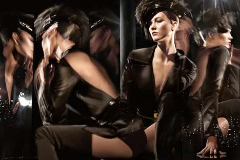 Kinetic Burlesque Fashion Ads - Karlie Kloss Fronts the Donna Karan Fall 2014 Campaign