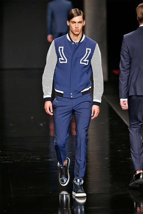 Luxe Varsity Apperel - The John Richmond Spring/Summer 2015 Collection is Elegantly Dressed