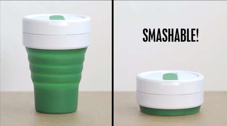 Collapsible Eco Mugs - This Smashing Travel Cup Design is Better for the Environment and Leak-Proof