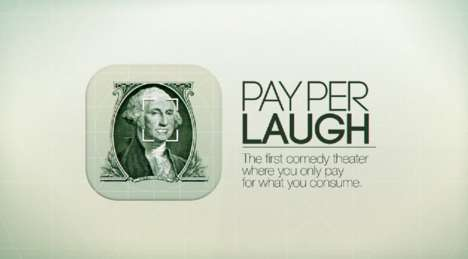 Smile Currency Campaigns - Teatreneu's Pay with a Smile Only Charges for Laughs at a Comedy Show