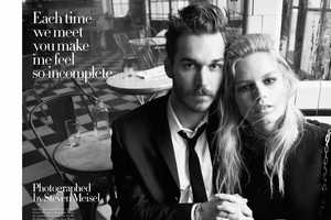 The Vogue Italia July 2014 Issue Features Couples Cuddling in Eateries