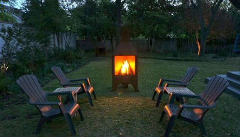 Smoke-Screening Bonfire Boxes - This Smart Fire Pit Design Funnels Smoke Away From Sensitive Eyes
