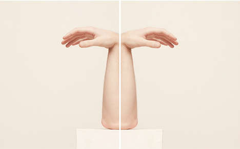 Fleshy Symmetrical Sculptures - These Deconstructed Body Sculptures are Alluring and Unusual