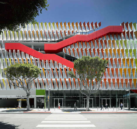 Colorful Parking Garages - City of Santa Monica Parking Structure #6 Livens up the Area