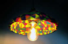 Geometric Multicolored Lampshades