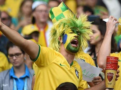 Two-Faced Soccer Fans - Heartbreaking Images of Brazil Fans Before And After Their World Cup Loss