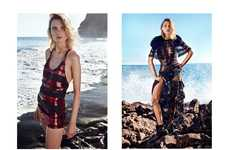 Edgy Seaside Editorials - The ELLE Poland Cover Shoot Stars Maria Loks