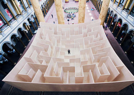 Paradoxical Maze Installations - This Wooden Maze Brings Clarity Instead of Convolution