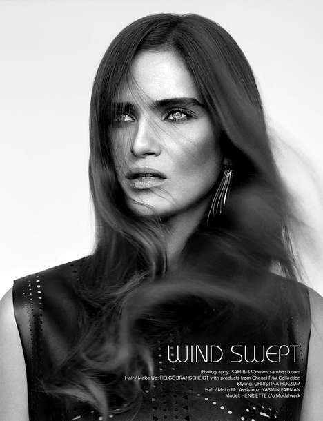 Sophisticated Windswept Editorials - The Kalt Blut Magazine Collection 6 Photoshoot Stars Henriette