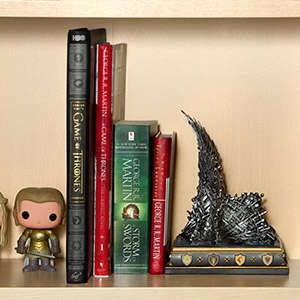 Fantasy Throne Bookends - This Game of Thrones Book Shelf Accessory is Perfect for a Fan of the Show