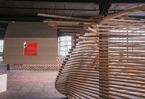 Storage Locker Installations - The RAW Material Exhibit Rethinks Basic Building Materials