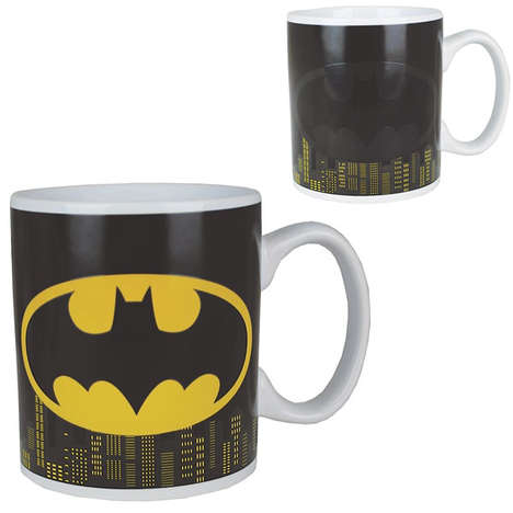 Caped Crusader Cups - The Bat Signal on This Forbidden Planet Batman Mug is Sensitive to Heat