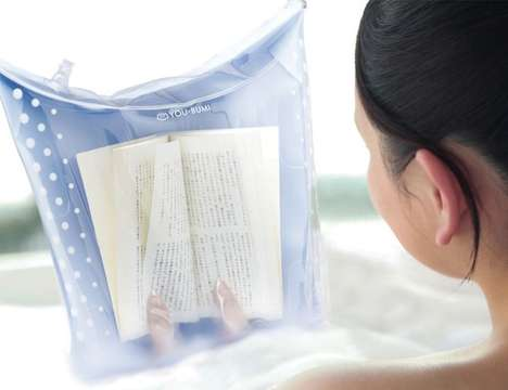 Waterproof Book Bags - The You-Bumi Cover Lets You Read in the Bath or Shower Without Wet Pages