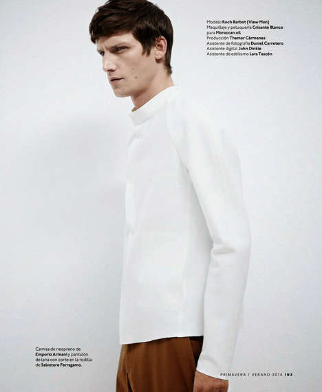 Simple Sophistication Editorials - Esquire's Minimalisme Fashion Story Embodies Clean-Cut Elegance