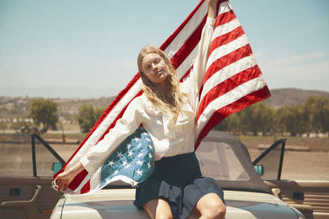 Patriotic Countryside Editorials - Juliette Cassidy Gets Back to Her Roots in this C-Heads Editorial