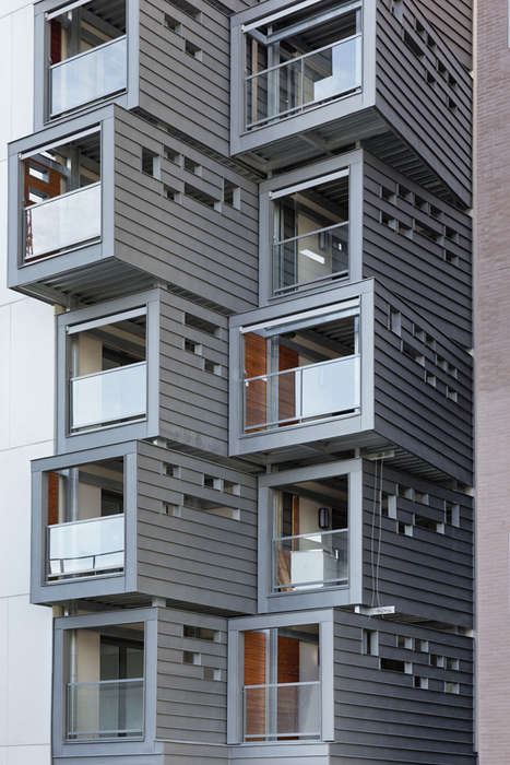 Stacked Box Residences - This Carre Seine Housing by Pietriarchitectes Boasts Modern Details