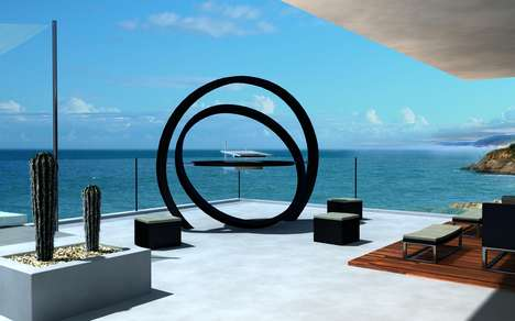 Concentric Ring Barbecues - The Kara Barbecue by Cesarre is a Super Modern Outdoor Grill