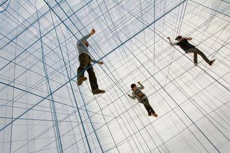 Rope Matrix Installations - String Prototype by Numen/For Use is a Futuristic Interactive Experience