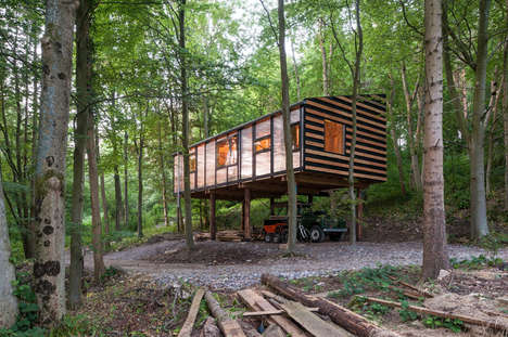 Forest-Clad Office Spaces - Invisible Studio Creates a Haven Workspace in the Trees