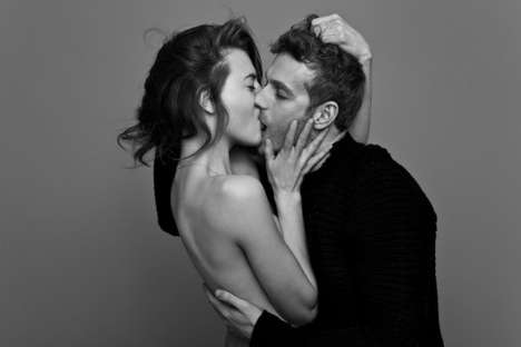 Intimate Lip-Locked Photography - This Monochrome Kissing Photography Series is Sweet and Sensual