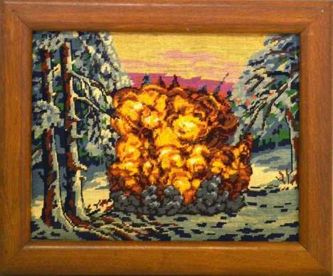 Video Game Tapestries - Artists Gauvain Manhattan Turns Vintage Draperies into Video Games
