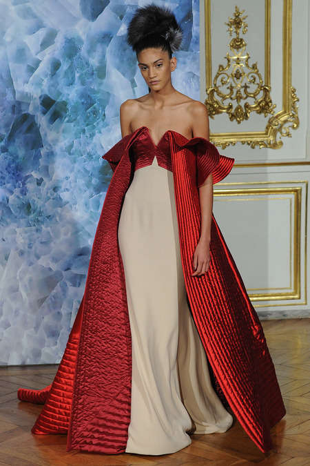 Eccentrically Dramatic Dresses - The Alexis Mabille Fall 2014 Couture Line is Inspired by Menswear