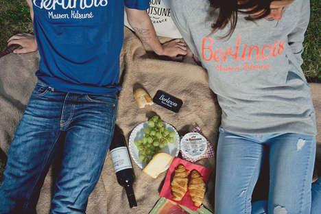 Parisian Picnic Lookbooks - Maison Kitsuné and SOTO Berlin Celebrate Cultural Mingling