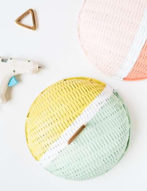 Colorblocked Food Lids - Sugar and Cloth Dresses up the Food Dome