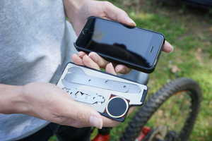 The MyTask Bike Repair Kit Slides into Any MyTask Phone Case Sleeve