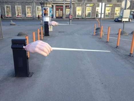 Quirky Parking Barriers - The Estonian National Opera Lets People Drive in on the Upstroke