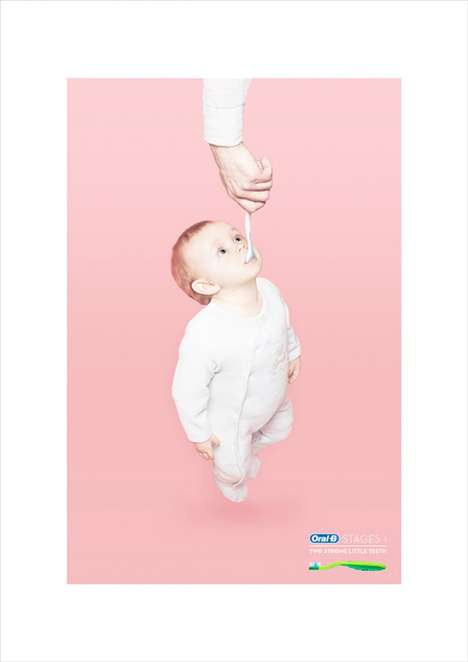 Mouthy Baby Ads - The Oral B Babies Stages 1 Campaign Focuses on Strong Teeth