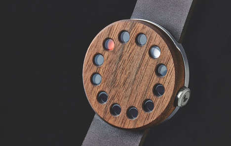 Circular Hand Timepieces - The Grovemade Wood Watch Places the Traditional Straight Hands