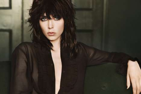 Rocker Fragrance Ads - The YSL Black Opium Campaign Stars Edie Campbell
