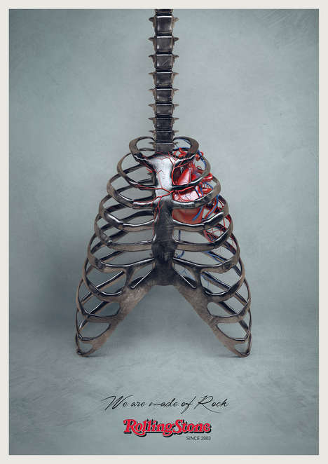 "Guitar Anatomy Ads - The Rolling Stone Magazine Campaign States ""We Are Made of Rock"""