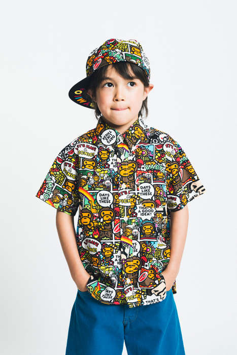 Urban Children's Fashion - A Bathing Ape FW14 Kids Collection is Colorful and Playful