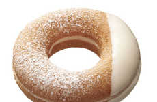 White Yogurt Donuts - Mister Donut's New Calpis Donuts Come Filled with Yogurt