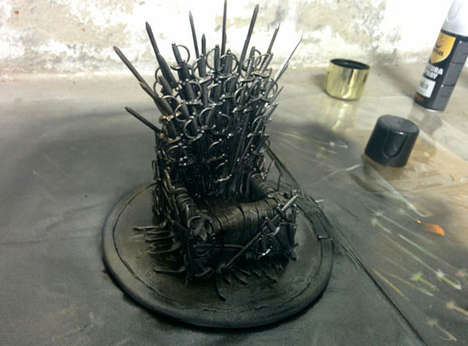 Fantasy Phone Thrones - This DIY Game of Thrones Phone Holder Looks Like the Infamous Iron Throne