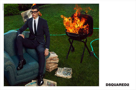 Luxe Backyard Advertorials - The Dsquared2 Fall/Winter 2014 Campaign is Outdoorsy