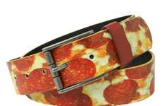 Pizza Pant Accessories - The Hot Topic Belts Available Include Extra Cheesy Pepperoni Pizza Prints