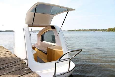 Boat-Infused Caravans - The Sealander Functions as a Mobile Home and a Boat