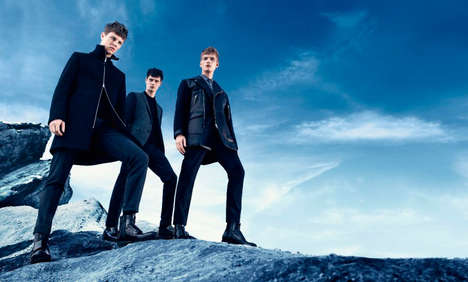 Sophisticated Mountainside Campains - The Hugo by Hugo Boss Fall/Winter 2014 Advert is Winter-Ready