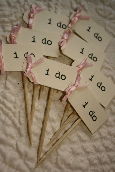 Bridal Dessert Accessories - These Cupcake Toppers from Etsy Celebrate Wedding Season